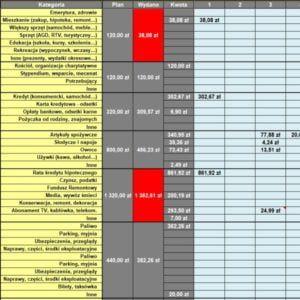 Arkusz Budżet domowy